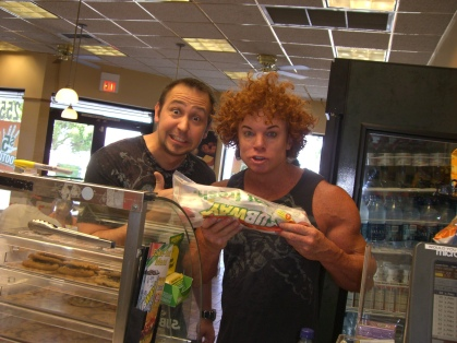 Alex Popovic Carrot Top Subway Sandwich picture